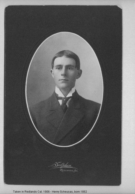 Henry Scheusas Born 1882