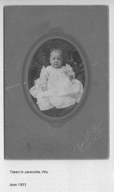 Jean, 1903 Taken in Janesville, Wis.