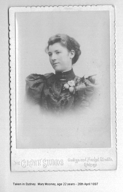 Mary Mooney 04/26/1897, aged 22 years