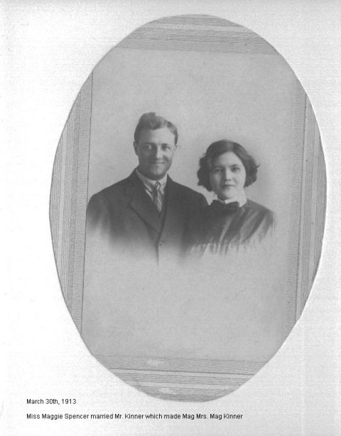 Miss Maggie Spencer Mr Kinner 03/30/1913