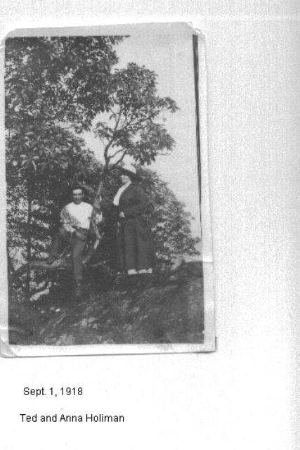 Ted and Anna Holiman 09/01/1918