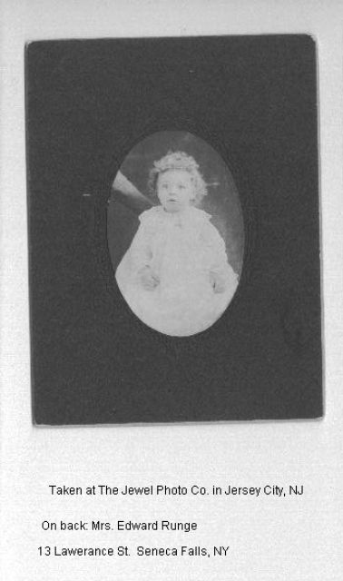 Unknown Child to Mrs Edward Runge
