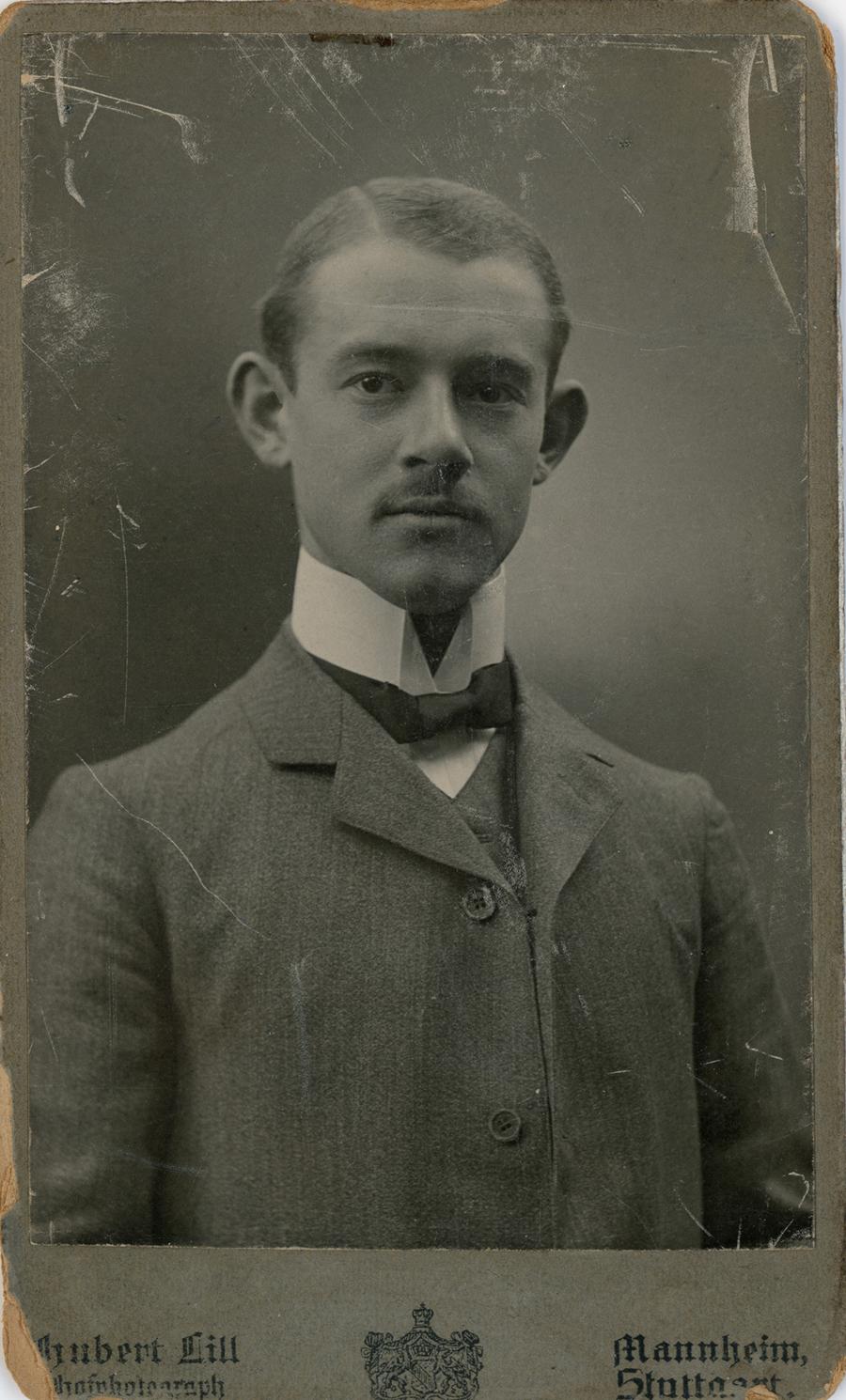 Leonhard Mann Dec 1905 Mannheim Stuttart
